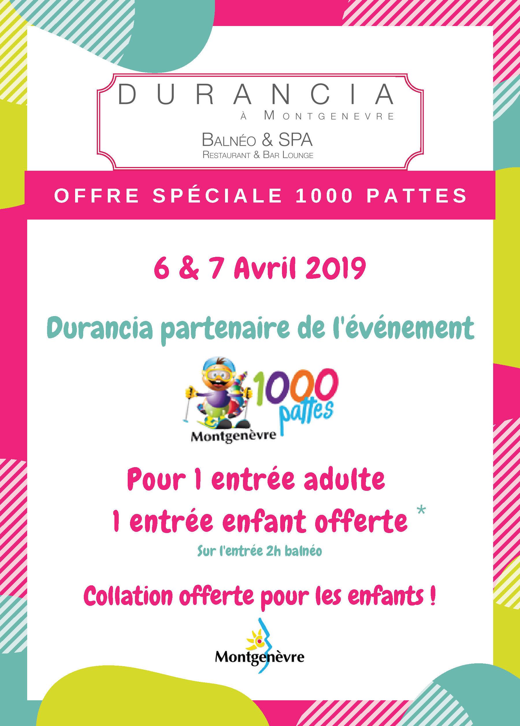 Offre Durancia - 1000 pattes - 6 et 7 avril 2019